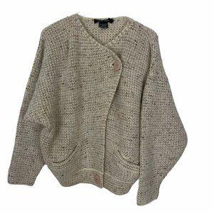 Chunky Knit Cream I.B Diffusion Cardigan Sweater L